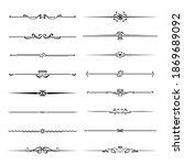 set of ornamental filigree... | Shutterstock .eps vector #1869689092