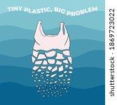 the plastic bag breaks up into... | Shutterstock .eps vector #1869723022