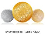 gold  silver and bronze awards | Shutterstock .eps vector #18697330