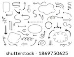 hand drawn arrows doodle...   Shutterstock .eps vector #1869750625