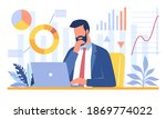 bearded businessman sitting in... | Shutterstock .eps vector #1869774022