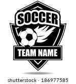 soccer badge icon symbol eps 10 ... | Shutterstock .eps vector #186977585