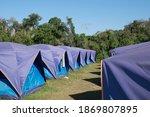 A Park Tent For Tourist Service ...