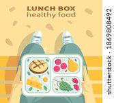 school lunch in the park on a... | Shutterstock .eps vector #1869808492