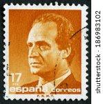 spain circa 1990  a stamp... | Shutterstock . vector #186983102