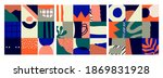 set of three abstract colorful... | Shutterstock .eps vector #1869831928
