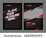 design of posters with red... | Shutterstock .eps vector #1869850495