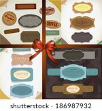 set of retro ribbons   vintage... | Shutterstock . vector #186987932