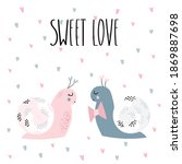 a couple of pink and gray... | Shutterstock .eps vector #1869887698