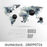 world map background in... | Shutterstock . vector #186990716