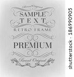 calligraphic design elements... | Shutterstock . vector #186990905