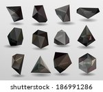 abstract modern crystal label ... | Shutterstock . vector #186991286