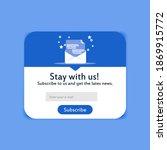 popup modern subscription form...   Shutterstock .eps vector #1869915772