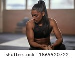 Exhausted Ethnic Female Athlete ...