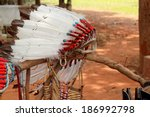 native american indian chief... | Shutterstock . vector #186992798