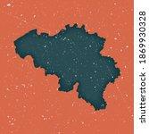 Belgium Vintage Map. Grunge Map ...
