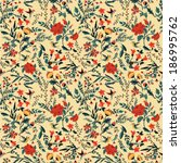 seamless floral pattern with of ... | Shutterstock .eps vector #186995762