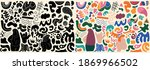big set of hand drawn various... | Shutterstock .eps vector #1869966502