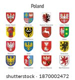 coat of arms of the voivodship... | Shutterstock .eps vector #1870002472