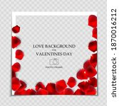 valentines day and love... | Shutterstock .eps vector #1870016212