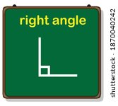 types of angles  right angle   Shutterstock .eps vector #1870040242