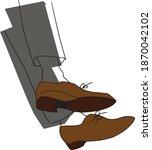 oxford formal shoe vector...   Shutterstock .eps vector #1870042102