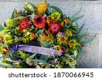 Lest We Forget Wreath Laid On...