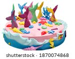 Cake With Mermaid Tails  Sweet...