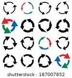 arrow symbols vector... | Shutterstock .eps vector #187007852