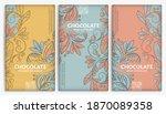 vintage set of chocolate bar...   Shutterstock .eps vector #1870089358
