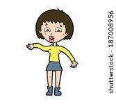 cartoon surprised woman | Shutterstock .eps vector #187008956