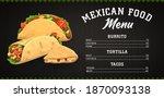 mexican food menu vector... | Shutterstock .eps vector #1870093138