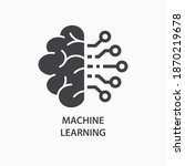 machine learning icon. vector... | Shutterstock .eps vector #1870219678