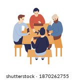 group of people sitting at... | Shutterstock .eps vector #1870262755