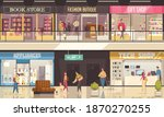 shopping mall illustration with ... | Shutterstock .eps vector #1870270255