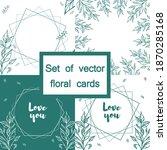 a set of floral frames  cards ... | Shutterstock .eps vector #1870285168