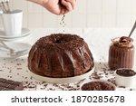 Bundt Chocolate Cake Decorated...