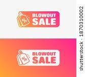 blowout sale shopping vector... | Shutterstock .eps vector #1870310002