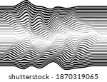abstract flow lines background .... | Shutterstock .eps vector #1870319065