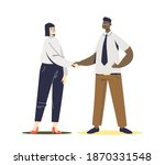 businessman and businesswoman... | Shutterstock .eps vector #1870331548