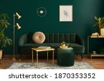 Luxury Living Room In House...