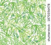 Monochrome Green Lichen Texture ...