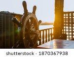 Wooden Helm Or Steering Wheel...