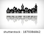 city skyline silhouette with...   Shutterstock .eps vector #1870386862