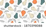 pears seamless bright light...   Shutterstock .eps vector #1870398088