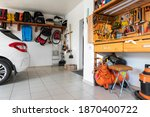 Home suburban car garage...