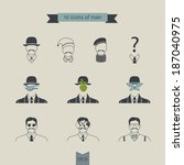 man. icons | Shutterstock .eps vector #187040975