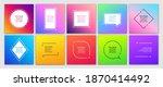 vector minimalist posters set.... | Shutterstock .eps vector #1870414492