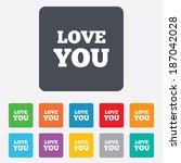 love you sign icon. valentines... | Shutterstock . vector #187042028