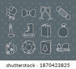 merry christmas symbol set...   Shutterstock .eps vector #1870423825